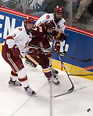Tariq Hammond (DU - 3), Adam Johnson (UMD - 7), Michael Davies (DU - 21) - The University of Denver Pioneers defeated the University of Minnesota Duluth Bulldogs 3-2 to win the national championship on Saturday, April 8, 2017, at the United Center in Chicago, Illinois.