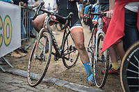 post-race legs<br /> <br /> Brico-cross Geraardsbergen 2016