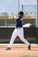 Allan Dykstra, San Diego Padres minor league spring training..Photo by:  Bill Mitchell/Four Seam Images.
