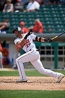 Indianapolis Indians Erik Gonzalez (37) at bat during an International League game against the Syracuse Mets on July 17, 2019 at Victory Field in Indianapolis, Indiana.  Syracuse defeated Indianapolis 15-5  (Mike Janes/Four Seam Images)
