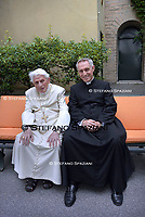 Pope Emeritus Benedict XVI,Monsignor Georg Gaenswein  Photographed in the Vatican Gardens on June 25, 2019.