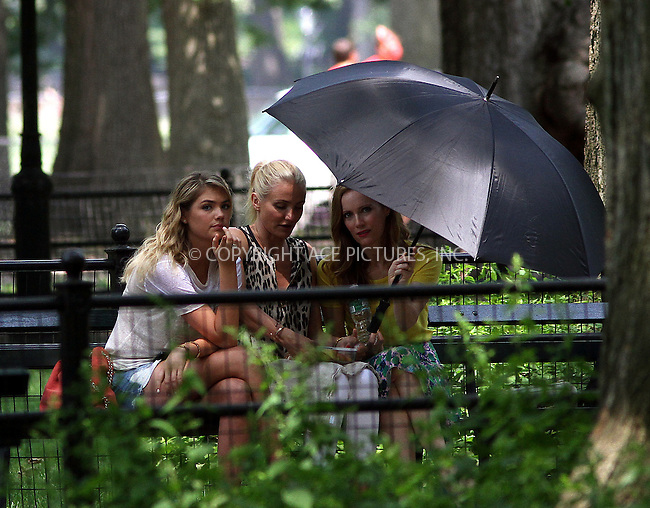 WWW.ACEPIXS.COM<br /> <br /> June 27 2013, New York City<br /> <br /> Kate Upton, Cameron Diaz and Leslie Mann on the set of the new movie 'The Other Woman' in Central Park on June 27 2013 in New York City<br /> <br /> By Line: Zelig Shaul/ACE Pictures<br /> <br /> <br /> ACE Pictures, Inc.<br /> tel: 646 769 0430<br /> Email: info@acepixs.com<br /> www.acepixs.com