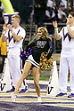 SEATTLE, WA - September 07:  Washington cheer member Elizabeth Ward entertained fans during the college football game between the Washington Huskies and the California Bears on September 07, 2019 at Husky Stadium in Seattle, WA. Jesse Beals / www.Olympicphotogroup.com