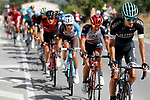 The 21 man breakaway group including Emanuel Buchmann (GER) Bora-Hansgrohe in action during Stage 8 of the 2017 La Vuelta, running 199.5km from Hell&iacute;n to Xorret de Cat&iacute;. Costa Blanca Interior, Spain. 26th August 2017.<br /> Picture: Unipublic/&copy;photogomezsport | Cyclefile<br /> <br /> <br /> All photos usage must carry mandatory copyright credit (&copy; Cyclefile | Unipublic/&copy;photogomezsport)