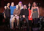 Vivian Reed, Lee Roy Reems, Robin DeJesus, Martin Charnin, Jarrod Spector, Jennifer Apple and Tiffin Borelli  attend attend a Special Press Preview at 54 Below on October 23, 2013 in New York City.