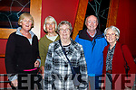 Joan Brosnan, Noreen O'Flynn, Marge Healy, Betty McAullifee amd Barry O'Flynn Castleisalnd at the Padraig O'Keeffe festival all star concert in the River Island Hotel on Sunday night