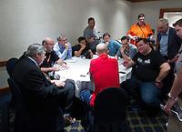 Mexico City, Mexico - Monday, March 25, 2013: USA press round table.