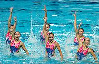 PRK - Democratic People's Republic of Korea<br /> JANG Hyon Ok JONG Na Ri<br /> KANG Un Ha KIM Ju Hye<br /> KIM Un A MIN Hae Yon<br /> RI Il Sim RI Ji Hyang<br /> RYU Mi Hyang YUN Yu Jong<br /> Day 9 01/08/2015<br /> XVI FINA World Championships Aquatics<br /> Synchro<br /> Kazan Tatarstan RUS July 24 - Aug. 9 2015 <br /> Photo Pasquale Mesiano/Deepbluemedia/Insidefoto