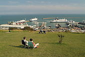 P&O ferries at the Dover ferry terminal.