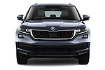Car photography straight front view of a 2017 Skoda Kodiaq Style 5 Door SUV Front View