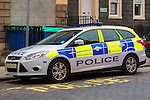 Police Scotland Ford Focus Estate police car.<br /> <br /> Image by: Malcolm McCurrach | New Wave Images UK<br /> Thu, 5, June, 2014