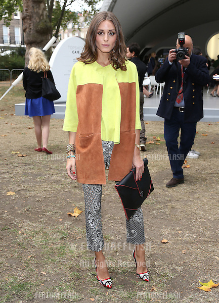 Olivia Palermo arriving at the Unique catwalk show as part of London Fashion Week SS13, Top Shop Venue, Bedford Square, London. 16/09/2012 Picture by: Henry Harris / Featureflash