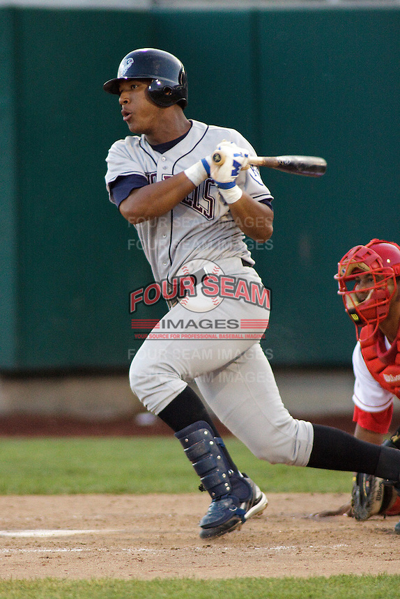 August 3, 2009:  Salvador Perez of the Idaho Falls Chukars, Rookie Class-A affiliate of the Kansas City Royals, during a game at the Orem Owlz Ballpark in Orem, UT. Photo by: Matthew Sauk/Four Seam Images