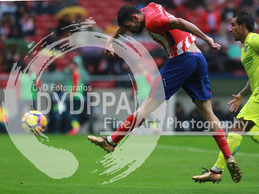 Atletico Madrid's Spanish forward Diego Costa <br /> Atletico de Madrid vs Getafe Spanish League football match, La Liga Santander, at Wanda Metropolitano stadium in Madrid on January 6, 2017
