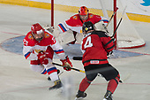 Bonnyville, AB - Dec 9 2018 - during the 2018 World Junior A Challenge at the R.J. Lalonde Arena in Bonnyville, Alberta, Canada (Photo: Matthew Murnaghan/Hockey Canada)
