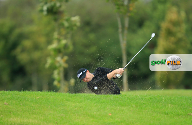 Shane Deegan (Spawell Driving Range) on the 14th during Round 3 of The Cassidy Golf 103rd Irish PGA Championship in Roganstown Golf Club on Saturday 12th October 2013.<br /> Picture:  Thos Caffrey / www.golffile.ie