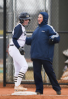 NWA Democrat-Gazette/CHARLIE KAIJO Assistant coach Teresa Thompson reacts during a softball game, Thursday, March 13, 2019 at Bentonville West High School in Centerton.