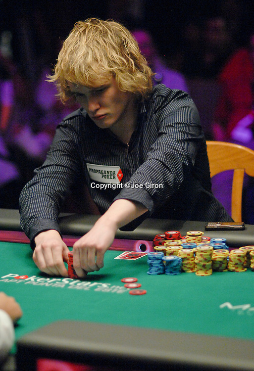 Chip leader Karl Hevroy