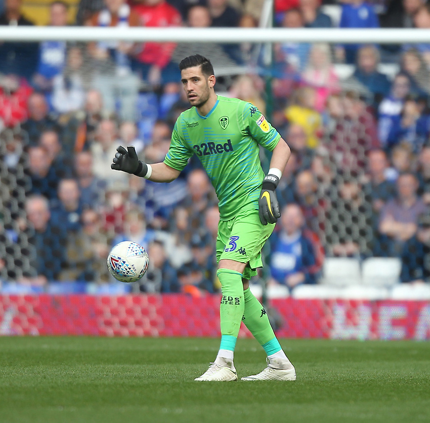 Leeds United's Francisco Casilla <br /> <br /> Photographer Mick Walker/CameraSport<br /> <br /> The EFL Sky Bet Championship - Birmingham City v Leeds United - Saturday 6th April 2019 - St Andrew's - Birmingham<br /> <br /> World Copyright © 2019 CameraSport. All rights reserved. 43 Linden Ave. Countesthorpe. Leicester. England. LE8 5PG - Tel: +44 (0) 116 277 4147 - admin@camerasport.com - www.camerasport.com