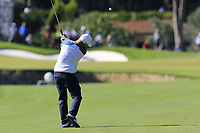 Andy Sullivan (ENG) plays his 2nd shot on the 10th hole during Thursday's Round 1 of the 2018 Turkish Airlines Open hosted by Regnum Carya Golf &amp; Spa Resort, Antalya, Turkey. 1st November 2018.<br /> Picture: Eoin Clarke | Golffile<br /> <br /> <br /> All photos usage must carry mandatory copyright credit (&copy; Golffile | Eoin Clarke)