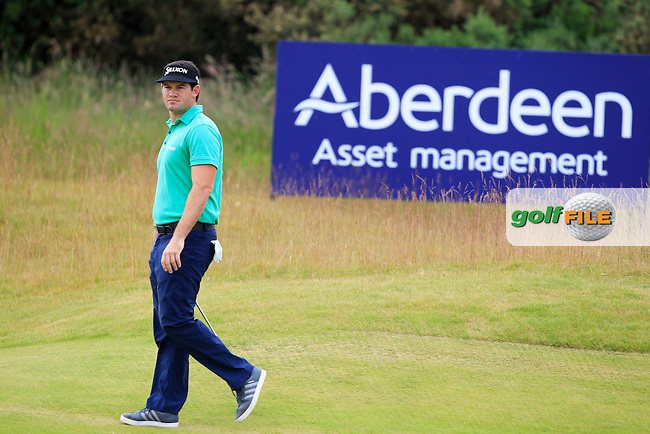 Ricardo Gouveia (POR) on the 8th during round 3 of the Aberdeen Asset Management Scottish Open 2016, Castle Stuart  Golf links, Inverness, Scotland. 09/07/2016.<br /> Picture Fran Caffrey / Golffile.ie<br /> <br /> All photo usage must carry mandatory copyright credit (&copy; Golffile | Fran Caffrey)