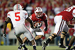 Wisconsin Badgers running back James White (20) carries the ball during an NCAA college football game against the Ohio State Buckeyes on October 16, 2010 at Camp Randall Stadium in Madison, Wisconsin. The Badgers beat the Buckeyes 31-18. (Photo by David Stluka)
