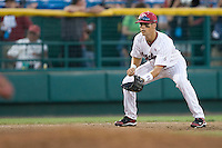 South Carolina 3B Whit Merrifield in Game 10 of the NCAA Division One Men's College World Series on June 24th, 2010 at Johnny Rosenblatt Stadium in Omaha, Nebraska.  (Photo by Andrew Woolley / Four Seam Images)