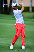 Paul Casey (GBR) watches his approach shot on 8 during round 1 of the Honda Classic, PGA National, Palm Beach Gardens, West Palm Beach, Florida, USA. 2/23/2017.<br /> Picture: Golffile | Ken Murray<br /> <br /> <br /> All photo usage must carry mandatory copyright credit (&copy; Golffile | Ken Murray)