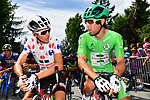 Polka Dot Jersey Warren Barguil (FRA) Team Sunweb and team mate Green Jersey Michael Matthews (AUS) on the start line before Stage 19 of the 104th edition of the Tour de France 2017, running 222.5km from Embrun to Salon-de-Provence, France. 21st July 2017.<br /> Picture: ASO/Alex Broadway | Cyclefile<br /> <br /> <br /> All photos usage must carry mandatory copyright credit (&copy; Cyclefile | ASO/Alex Broadway)