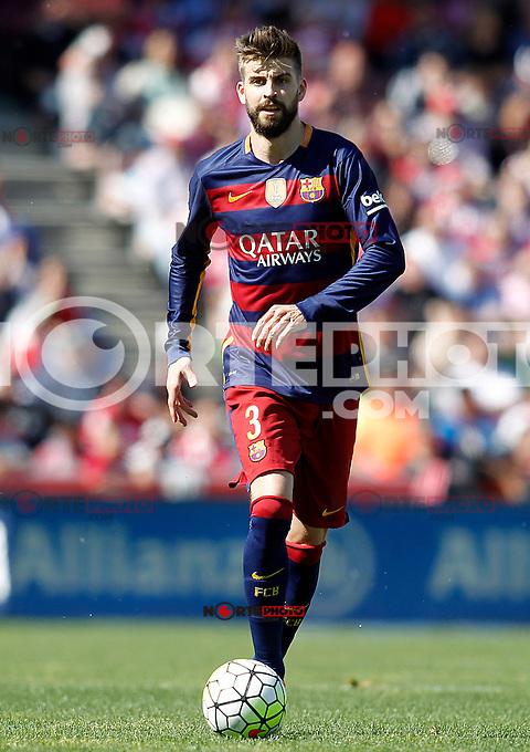 FC Barcelona's Gerard Pique during La Liga match. May 14,2016. (ALTERPHOTOS/Acero) /NortePhoto.com