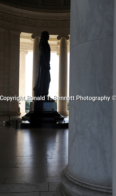 The Thomas Jefferson Memorial Washington D.C.,The Thomas Jefferson Memorial, Jefferson memorial, Presidential Memorial in Washington DC, pillars, Thomas Jefferson, American founding Father, Third President of the United States, neoclassical, Designed by John Russell Pope, Philadelphia, done, portico, Tidal, Basin, Potomac River, West Potomac Park, Washington monument, National Mall and Memorial Parks, List of America's Favorite Architecture, American Institute of Architects, U.S. National Register of Historic Places, U.S. National Memorial, Washington D.C., Ron Bennett Photography, Stock Photography, Fine Art Photography, Fine Art Photography by Ron Bennett, Fine Art, Fine Art photo, Art Photography,