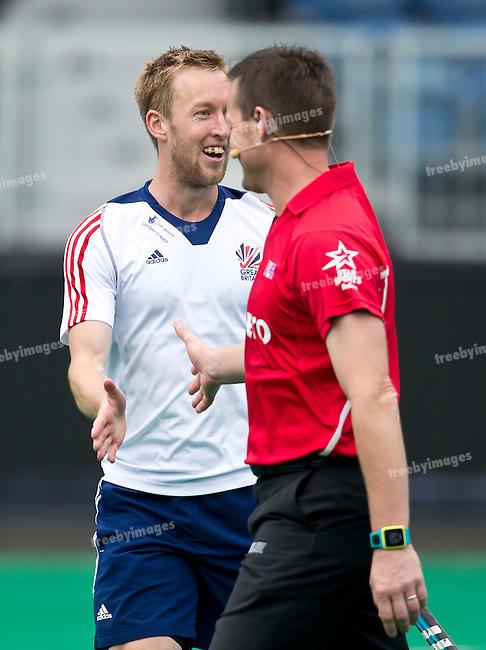 23/06/2015<br /> HWL Semi Final Antwerp Belgium 2015<br /> Ireland v Great Britain Men<br /> Barry Middleton<br /> <br /> Photo: Grant Treeby
