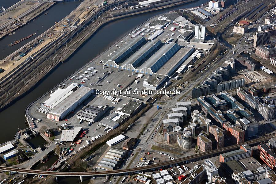 Grossmarkt Hamburg: EUROPA, DEUTSCHLAND, HAMBURG, (EUROPE, GERMANY), 08.03.2015: Grossmarkt Hamburg, denkmalgeschuetze Hallen des Architekten Bernhard Hermkes nahe der Hamburger Innenstadt