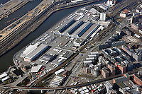 Grossmarkt Hamburg: EUROPA, DEUTSCHLAND, HAMBURG, (EUROPE, GERMANY), 08.03.2015: Grossmarkt Hamburg, denkmalgeschuetze Hallen des Architekten Bernhard Hermkes nahe der Hamburger Innenstadt
