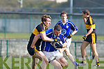 Andrew Kennelly Dr Crokes tackles Barry O'Shea Kerins O'Rahillys in the Divison 1 league final in Killarney on Sunday