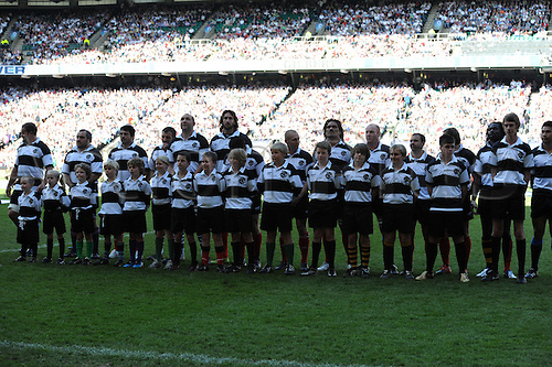 3./05.10 Baa Baas line up before the  Barbarians v England May 30 at Twickenham Stadium, Middlesex. England won this special match by a score over the Barbarians of England 35 Barbarians 26