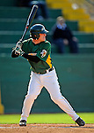 30 April 2008: University of Vermont Catamounts' infielder and Team Co-Captain Kyle Massie, a Senior from Rutland, VT, in action against the University of Massachusetts Minutemen at Historic Centennial Field in Burlington, Vermont. The Catamounts recorded a season-high 19 hits as they defeated the Minutemen 17-4 in their last NCAA non-conference game of the year...Mandatory Photo Credit: Ed Wolfstein Photo