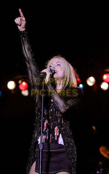 TERRI NUNN of BERLIN.Perform at The 16th Annual Taste of Newport held at Fashion Island in Newport Beach, Orange County, California, USA,.September 10th 2004.half length band gig music live concert pointinh hand arm gesture.Ref: DVS.www.capitalpictures.com.sales@capitalpictures.com.©Capital Pictures.