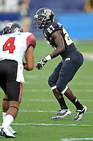 24 September 2011:  FIU defensive back Jose Cheeseborough (27) watches for the snap in the first quarter as the University of Louisiana-Lafayette Ragin Cajuns defeated the FIU Golden Panthers, 36-31, at FIU Stadium in Miami, Florida.