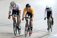 Dylan Kennett (L) of Waikato BOP and Luke Mudgway of East Coast North Island compete in the Elite Men Omnium 2 Tempo race 10km at the Age Group Track National Championships, Avantidrome, Home of Cycling, Cambridge, New Zealand, Saturday, March 18, 2017. Mandatory Credit: © Dianne Manson/CyclingNZ  **NO ARCHIVING**