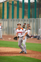 Joshua Fernandez (7) of Hondo High School in Hondo, Texas during the Under Armour All-American Pre-Season Tournament presented by Baseball Factory on January 15, 2017 at Sloan Park in Mesa, Arizona.  (Zac Lucy/MJP/Four Seam Images)