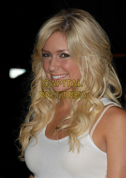 "KRISTIN CAVALLARI.Mark Burnett & AOL's Launch of ""Gold Rush"" interactive reality competition held at Les Deux in Hollywood, California, USA..September 12th, 2006.Ref: DVS.headshot portrait gold gun necklace.www.capitalpictures.com.sales@capitalpictures.com.©Debbie VanStory/Capital Pictures"