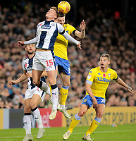 Leeds United's Stuart Dallas battles with West Bromwich Albion's Harvey Barnes<br /> <br /> Photographer David Shipman/CameraSport<br /> <br /> The EFL Sky Bet Championship - West Bromwich Albion v Leeds United - Saturday 10th November 2018 - The Hawthorns - West Bromwich<br /> <br /> World Copyright © 2018 CameraSport. All rights reserved. 43 Linden Ave. Countesthorpe. Leicester. England. LE8 5PG - Tel: +44 (0) 116 277 4147 - admin@camerasport.com - www.camerasport.com