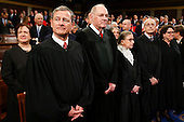 The Supreme Court Justices arrives before the State of the Union address to a joint session of Congress on Capitol Hill in Washington, Tuesday, Jan. 12, 2016. <br /> Credit: Evan Vucci / Pool via CNP