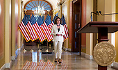 Speaker of the United States House of Representatives Nancy Pelosi (Democrat of California), walks to the podium to announce she is calling on the US House Judiciary Committee to proceed with articles of impeachment against US President Donald J. Trump from the Speakers Balcony in the US Capitol in Washington, DC on Thursday, December 5, 2019.<br /> Credit: Bill Clark / Pool via CNP