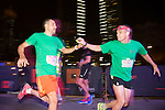 Winners receive their awards on stage during the Bloomberg Square Mile Relay race across the Dubai International Financial Centre on 8 February 2017 in Dubai, United Arab Emirates. Photo by Vitaly Gonyukov / Power Sport Images