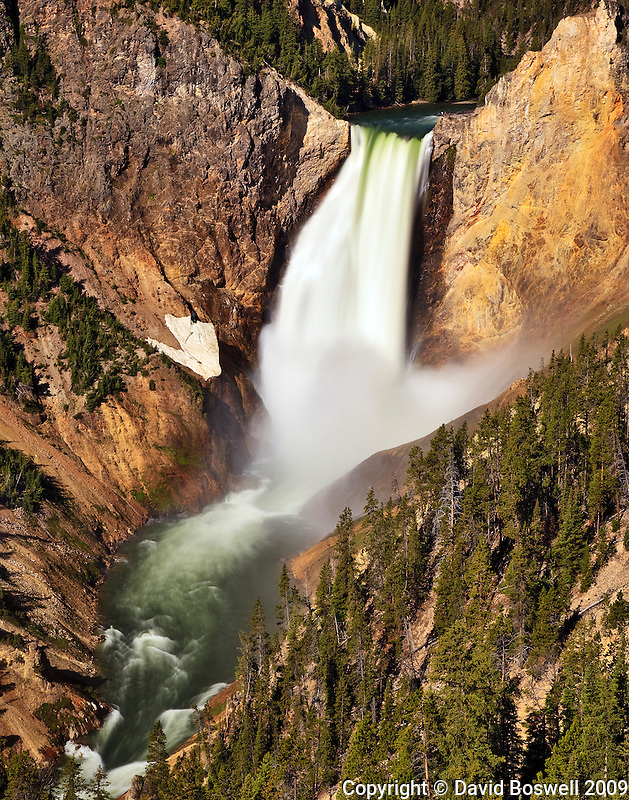 Lower Yellowstone Falls, seen in the morning light.