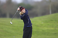Leonie Wulfers (Germany) during the second round of the Irish Girls' Open Stroke Play Championship, Roganstown Golf Club, Swords, Ireland. 14/04/2018.<br /> Picture: Golffile | Fran Caffrey<br /> <br /> <br /> All photo usage must carry mandatory copyright credit (&copy; Golffile | Fran Caffrey)