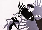 """Кадр из фильма """"Голубой щенок"""" (1976) USSR; Режиссер: Ефим Гамбург; Союзмультфильм; / Filmstill """"Goluboy shchenok"""" (1976); СССР; Director: Efim Hamburg; Soyuzmultfilm."""