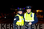Gda Grace O'Connell and Gda Owen Walsh at the firework display in Denny St on New Years Eve